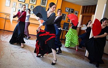 Matilde Coral flamenco dance school at calle Castilla, Triana district  Sevilla  Andalusia  Spain