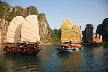 Junks on Halong Bay, Vietnam