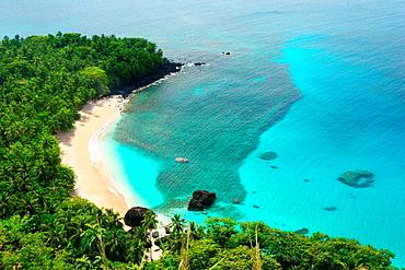 Banana beach in Principe, the smallest island of the Democratic Republic of Sao Tome and PrIncipe
