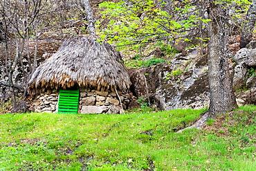 Hut in the Cebollon Navarrevisca avila Castilla Leon Spain