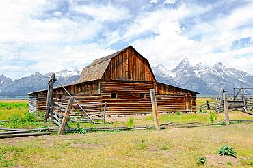 Mormon Row Barn Grand Teton National Park Wyoming WY United States