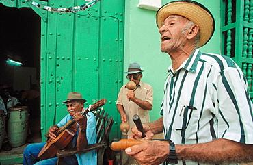 Los Pinos band, Trinidad, Cuba