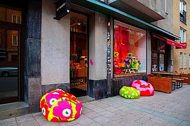 Marimekko shop exterior SoFo the South of Folkungagatan area Sodermalm district Stockholm Sweden Europe