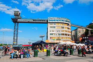 Slussplan square Slussen area Sodermalm district Stockholm Sweden Europe