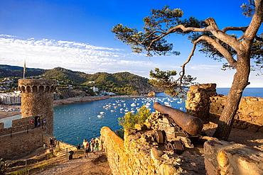 Spain , Catalonia ,Costa Brava Coast ,Tossa de Mar City, Tossa castle