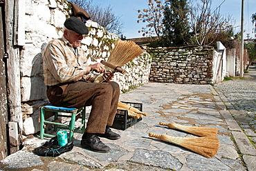 Traditional Broom Maker, Selcuk, Turkey