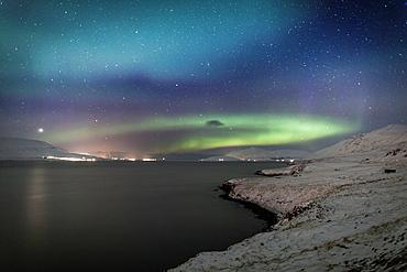 Aurora Borealis, Eyjafjordur, Iceland
