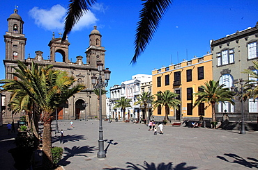 Spain, Canary Islands, Gran Canaria, Las Palmas, Cathedral, Plaza de Santa Ana