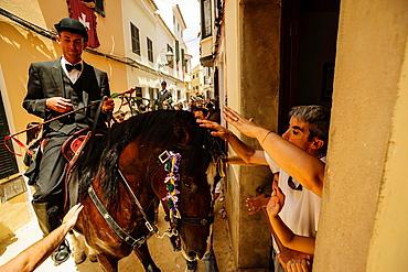 Santa Clara Caragol, Sant Joan festivities Ciutadella Menorca, Balearic Islands, Spain