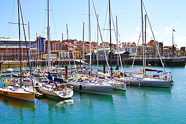 Sailing Boats at Marina Gijon, Asturias, Spain