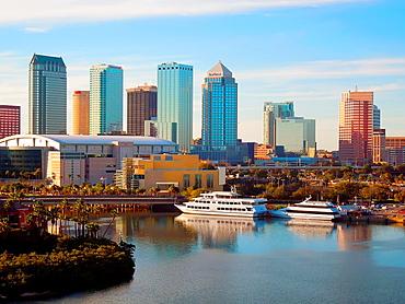 Tampa Florida City Skyline FL