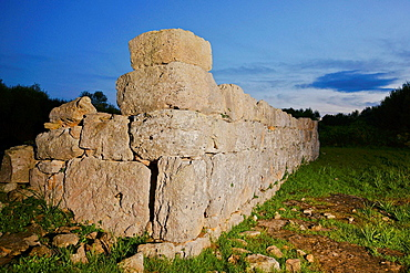 Rectangular enclosure archaeological site Hospitalet Vell 1000-900 BC Balearic Islands Mallorca Spain