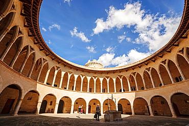 Circular cloister, Bellver Castle,, XIV century -, Palma de Mallorca Mallorca Balearic Islands Spain