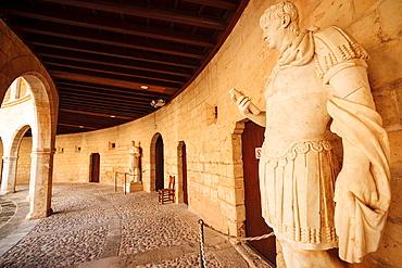Roman statues, Despuig collection, Bellver Castle Mallorca Palma de Mallorca Balearic Islands Spain