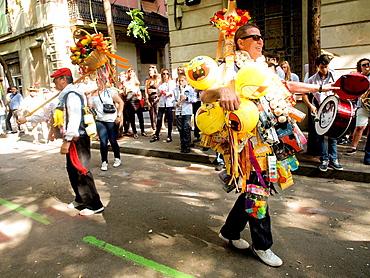 Popular festival of choirs humorous held around Pentecost. Barceloneta neighborhood, Barcelona, Catalonia, Spain.