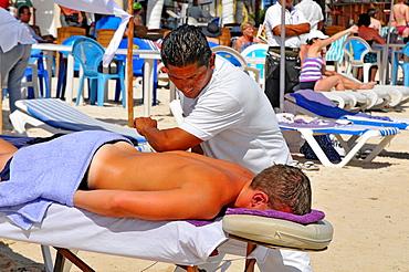 Massage Tables Costa Maya Mexico Beach Caribbean Cruise Ship Port
