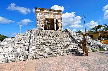 Bernal Diaz del Castillo Monument Cozumel Mexico Cruise Ship Port