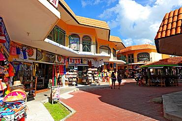 Shopping Area Cozumel Mexico Cruise Ship Port