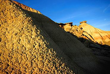 Sand hills in Bardenas Reales, Navarra, Spain