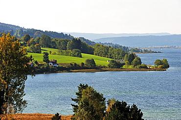 Lac de Saint-Point, Doubs departement, Franche-Comte region, France Europe