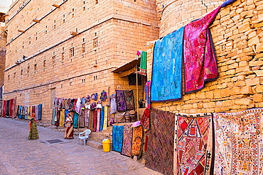 Street scene inside the Fort,Jaisalmer, Rajasthan, India