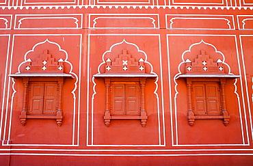 Detail of Diwan-i-Khas Hall of private Hearing,City Palace,Jaipur, Rajasthan, India