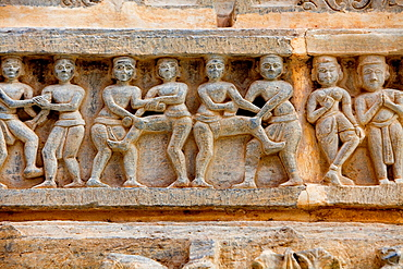 Detail,erotic relief on the exterior wall of the Jagdish Temple,Udaipur, Rajasthan, india