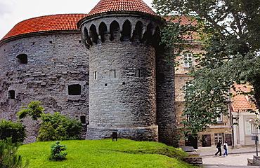Fat Margaret¥s tower and Great Coastal Gate,old city walls,Tallinn,Estonia