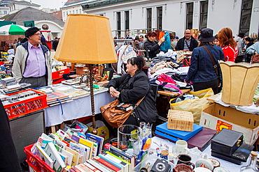 Saturday Flea market at Naschmarkt,Vienna, Austria, Europe