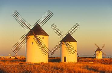 Windmills,Mota del Cuervo,Cuenca province,Castilla La Mancha,the route of Don Quixote, Spain