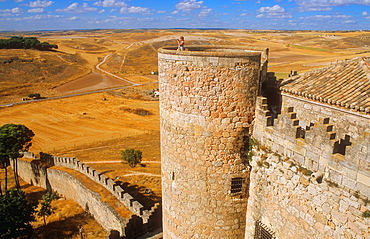 Belmonte castle 15th century,Belmonte,Cuenca province,Castilla La Mancha,the route of Don Quixote, Spain