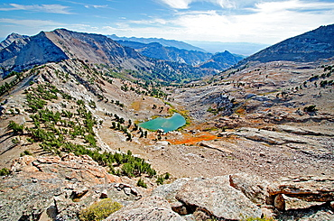Ruby Mountains, The view southwest from the South Ridge route on Snow Lake Peak which is rated Grade 2, 5,4 in the Ruby Mountains in northern Nevada