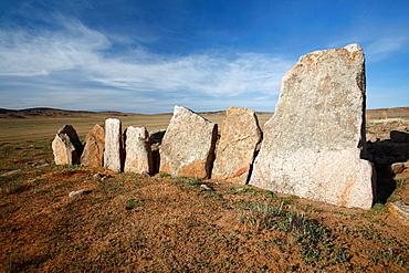 Prehistoric tomb in the Gobi Desert, Mongolia