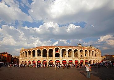 The Roman Arena in Piazza Bra, Verona, Italy