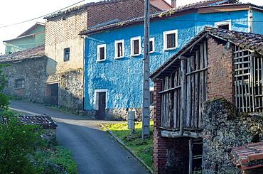 El Mazuco small village in Asturias mountain, Spain