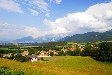 St Maurice en Trieves village, Tieves region, Isere, France