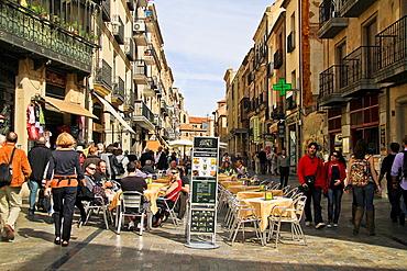 People at Salamanca street, Castille and Leon, Spain