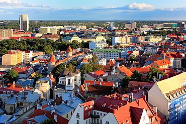 Cityscape from St  Olaf¥s Church, Tallinn, Estonia, Tallinn, Estonia