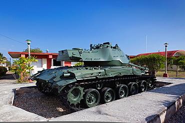 Cuba, Matanzas Province, Playa Giron, Museo de Playa Giron, museum of the 1961 US-CIA led Bay of Pigs Invasion, US-made M-41 Walker Bulldog tank