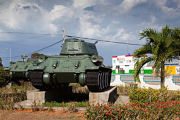 Cuba, Matanzas Province, Playa Giron, Museo de Playa Giron, museum of the 1961 US-CIA led Bay of Pigs Invasion, Soviet-made T-34 tank