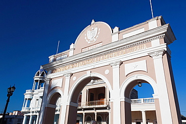 Cuba, Cienfuegos Province, Cienfuegos, Parque Jose Marti, Arco de Triunfo arch