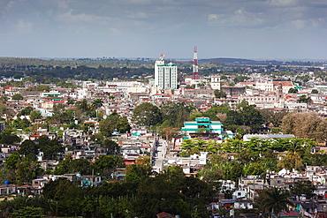 Cuba, Santa Clara Province, Santa Clara, elevated city view from the Lomo de Caparo