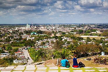 Cuba, Santa Clara Province, Santa Clara, elevated city view from the Lomo de Caparo, NR