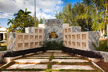 Cuba, Cienfuegos Province, Cienfuegos, Necropolis Tomas Acea, town cemetery, monument to the fallen at the 1961 Bay of Pigs invasion