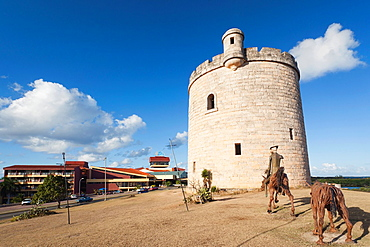 Cuba, Matanzas Province, Varadero, tower by the Meson del Quixote Restaurant