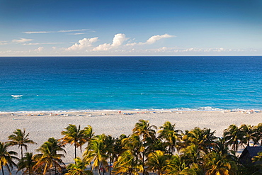 Cuba, Matanzas Province, Varadero, Varadero Beach, elevated view