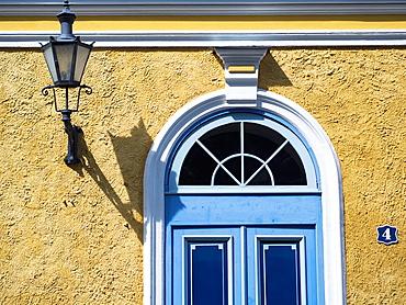 Building facades in Old City in Tallin, Estonia