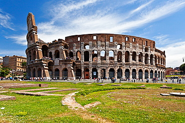 The Roman Coliseum in Rome, Italy
