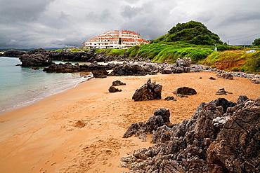 Sable beach in Noja  Santander  Cantabria  Spain