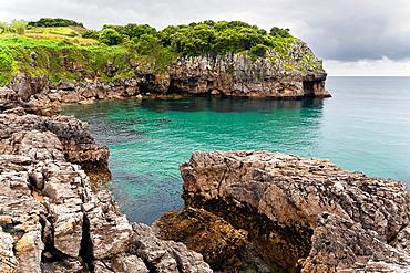 Arnadal cliff in Noja  Santander  Cantabria  Spain